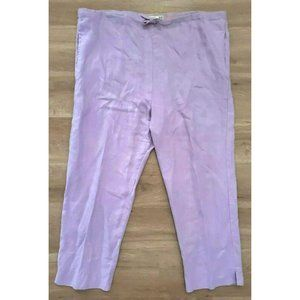 Jams World Womens Wide Leg Crop Lavender Pants M